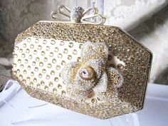 SALE Rich Gold Fabric Wedding Bag Clutch by weddingswithflair, $55.00