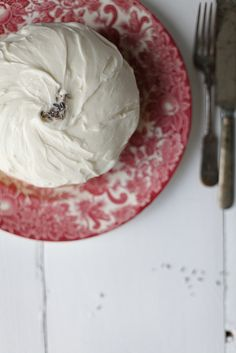 Lavender Cake with Goat Cheese Icing