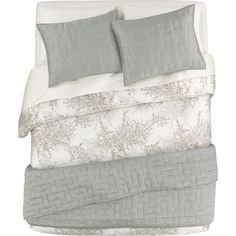 Anujah Seaglass Bed Linens in Quilts, Coverlets   Crate and Barrel
