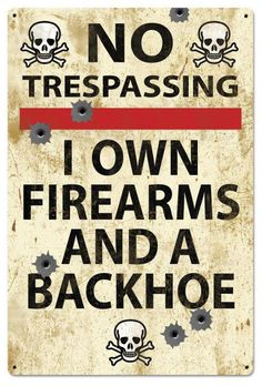 Vintage and Retro Tin Signs - JackandFriends.com - No Trespassing Retro Metal Sign 24 x 36 Inches, $96.98 (http://www.jackandfriends.com/no-trespassing-retro-metal-sign-24-x-36-inches/)