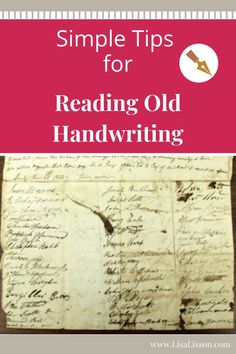 Tips for Reading Old Handwriting Try these simple tips for reading old handwriting and moving your genealogy research forward.Try these simple tips for reading old handwriting and moving your genealogy research forward. Free Genealogy Sites, Genealogy Forms, Genealogy Research, Family Genealogy, Genealogy Chart, Family Tree Research, Genealogy Organization, Roman, Old Family Photos