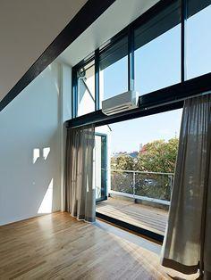 Houses, House Design, Windows, Curtains, Home Decor, Patio, Living Area, Homes, Blinds