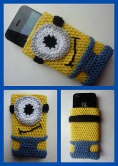 Minion inspired phone sleeve - The Supermums Craft Fair