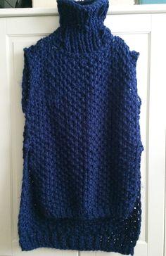 Patrón suéter sin mangas a dos agujas | Manualidades