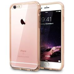 Amazon.com: iPhone 6S Case, TORU [VX PRO] iPhone 6 Clear Case - Slim Fit Crystal Clear Hard Cover with Black Protective Soft Cushion TPU Bumper for Apple iPhone 6/6S - Rose Gold: Cell Phones & Accessories