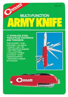 Army Knife - 11 Function 72 Hour Kits, Emergency Preparedness, Army, Handle, Stainless Steel, Tools, Gi Joe, Instruments, Military