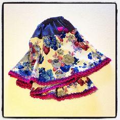 Mini Vuela Crochet. Blue