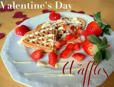 Delicious valentine's waffles Visit Les Deux Magazine for the recipe. Food Inspiration, Waffles, Valentines Day, Yummy Food, Magazine, Breakfast, Desserts, Recipes, Valentines Diy