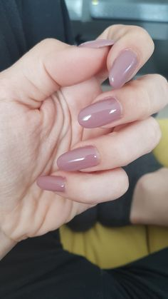 Nude acrylic nails