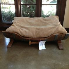 wine barrel dog bed - Bailey needs this!!