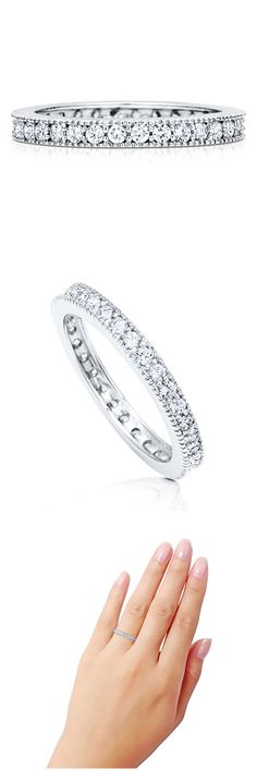 Sterling Silver CZ Wedding Anniversary Eternity Band Ring