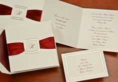 Christmas Wedding Ideas - Beautiful #WeddingInvitation! (Invitation Link - https://occasionsinprint.yourinvitationplace.com/wedding/wedding-invitations/W%20%2071CL)