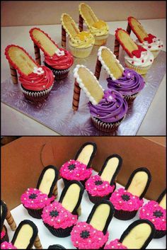 How To Make High Heel Cupcakes. Who doesn't love dainty, girl fashion inspired party food? Here is a great way to make some fun fashion inspired cupcakes! Barbie Birthday Party, Spa Birthday Parties, Birthday Fashion, Barbie Party, 7th Birthday, Barbie Theme, Birthday Ideas, Kinder Spa Party, High Heel Cupcakes