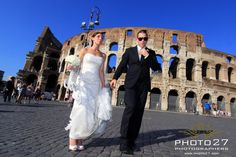 Rome wedding with the Coliseum
