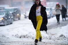 Streetstyle на Неделе моды в Нью-Йорке. Часть 1