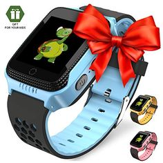 9c1505666384 Smart Watch for Kids - Smart Watches for Boys Smartwatch GPS Tracker Watch  Wrist Android Mobile