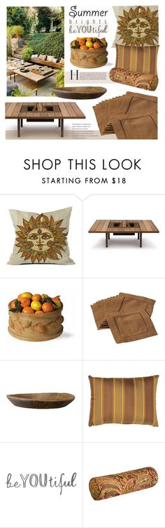 """""""Summer Brights: Outdoor Decor Ideas"""" by style-lena ❤ liked on Polyvore featuring interior, interiors, interior design, home, home decor, interior decorating, DENY Designs, AK47, Capital Garden Products and Improvements"""