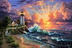 Light house sunrise