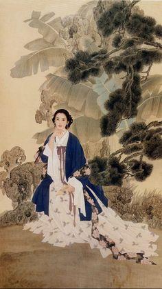 Women in Art History — Wang Mei Fang and Zhao Guo Jing Art Chinois, Art Asiatique, Korean Art, China Art, Chinese Culture, Chinese Painting, Beauty Art, Photos Du, Beautiful Paintings