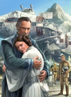 Princess Leia Organa bidding her father farewell before leaving on her mission to Toprawa>>I love this