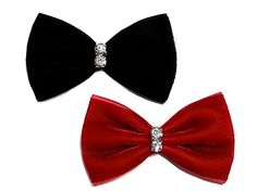 Velvet Mini Hair Bow Clip Sets with Rhinestones Collection Alligator Clips Red  Black *** Read more reviews of the product by visiting the link on the image.(This is an Amazon affiliate link and I receive a commission for the sales)