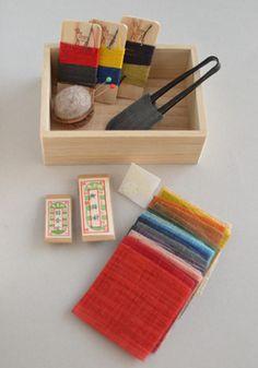 japanese sewing kit. くるみの木 お裁縫箱