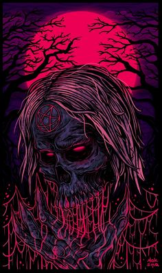 Horror Artwork, Skull Artwork, Metal Artwork, Grim Reaper Art, Heavy Metal Art, Death Art, Rock Poster, Totenkopf Tattoos, Acid Art