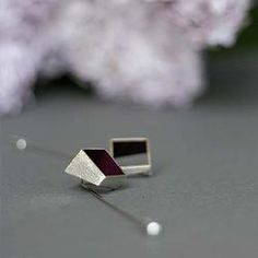 Square Pins No1 (Silver/Enamel)