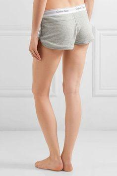 Calvin Klein Underwear - Modern Cotton-blend Jersey Shorts - Gray - large