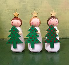 "2"" Girls with Trees by Jone Hallmark"