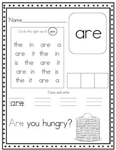 Words and Sight  word sight learning Word Sight  Worksheets on Pinterest Words, Sight  worksheets