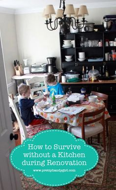 How to Survive without a Kitchen during Renovation - I am sharing some tips to help make your kitchen remodel a little easier should you choose to take on the challenge! | Pretty Handy Girl | #Prettyhandygirl #kitcheddiy #kitchenremodel #homerenovation #homeremodel #diyrenovation Kitchen Pantry, Diy Kitchen, Kitchen Decor, Kitchen Ideas, Home Renovation, Home Remodeling, Pantry Inspiration, Put Together, Diy Projects