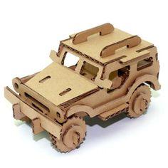 3D Paper Car Puzzle Creative Decorative Paper Craft, Eco-friendly Kids Toy