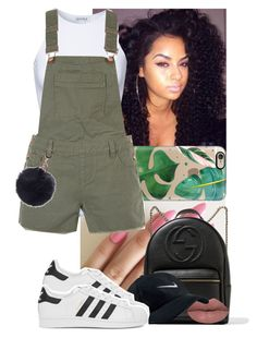 """"""""""" by msixo ❤ liked on Polyvore featuring Casetify, Estradeur, New Look, Gucci, LASplash, NIKE and adidas Originals"""