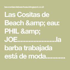 Las Cositas de Beach & eau: PHIL & JOE........................la barba trabajada está de moda..............................