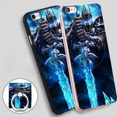 WARLORD FANTASTIC FITS Phone Ring Holder Soft TPU Silicone Case Cover for iPhone 4 4S 5C 5 SE 5S 6 6S 7 Plus
