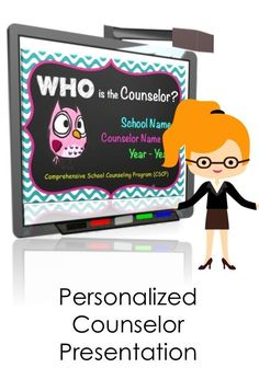 Use for back to school or any time during the year! Super cute, upbeat Powerpoint presentation for a School's Comprehensive School Counseling Program. Great to show at a beginning of the year Parent Teacher meeting, an advisory council meeting, or faculty
