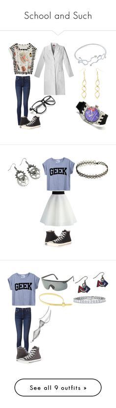 """""""School and Such"""" by tessa-moon on Polyvore featuring Tsumori Chisato, rag & bone, Converse, Invicta, Chicwish, Cast of Vices, Beverly Bartlett, Visvim, Forever 21 and Bling Jewelry"""