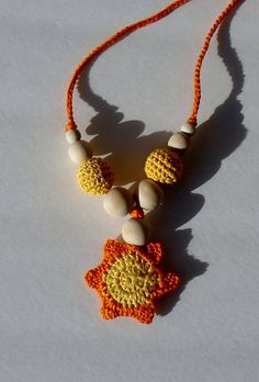 Hand crochet Beaded Teething Toy Nursing Necklace by creativeladys, $14.00