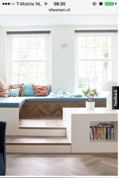 A window seat is a seating area in an alcove or nook that is lined with windows. There are several ways to create a corner window seat. Corner Window Seats, Corner Nook, Family Room, Home And Family, Diy Casa, Design Case, Home And Living, Living Room, Living Area