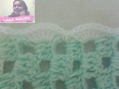 Manta para berço, final #crochet #crochetfilet #mantadecroche