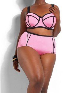 a577c3ca37 Plus Size 4XL Neoprene Push Up High Waist Bikini Sets Soild Color Swimwear  Bathsuit Maillot at