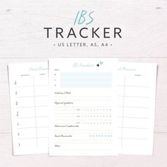 IBS Tracker • Food Diary • Allergy • Diet Tracker • Meal Planner • Daily Health Planner • Symptom Tracker • A5 A4 Letter Printable Inserts by PaperStormStudio on Etsy