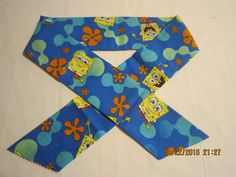 """Extra Wide 3"""" Reusable Non-Toxic Cool Wrap / Neck Cooler  - Kids Prints - Boys - Sponge Bob - Blue by ShawnasSpecialties on Etsy"""