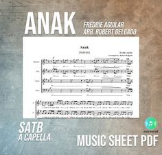 """Robert Delgado """"Anak"""" became a finalist in the first MetroPop Song Festival. Sheet Music, How To Become, Lyrics, Pdf, Songs, Song Lyrics, Song Books, Music Sheets, Music Lyrics"""