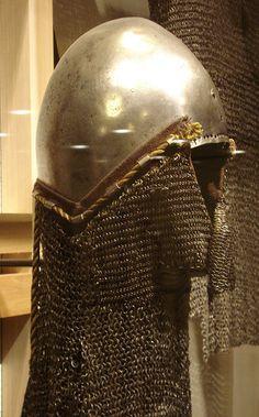ca. 1360 - 'Beckenhaube mit Brünne (bascinet with aventail)', German, Deutsches Historisches Museum, Berlin, Germany