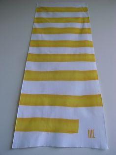 """shimashima...stripe  c/# yellow    tenugui  """"cu3"""""""