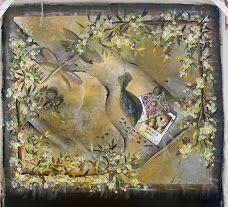 Moms garden 2 . Acrylic on canvas . Caron A. Lawler tolfG 2015