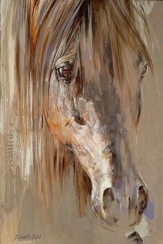 This horse painting is the perfect farmhouse decor. #horsepainting #horseart #fa