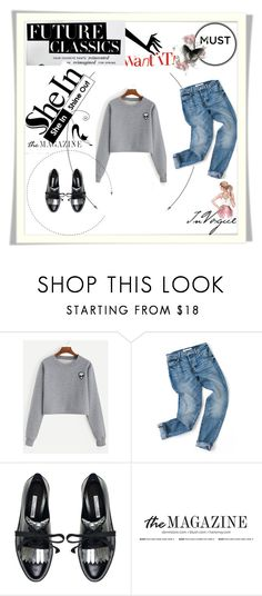 """""""shein contest with these great sweatshirt/please join here girls"""" by dressing-is-a-way-of-life ❤ liked on Polyvore featuring Oscar de la Renta"""